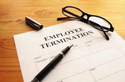 Picture of Employment Termination Letter on Desk