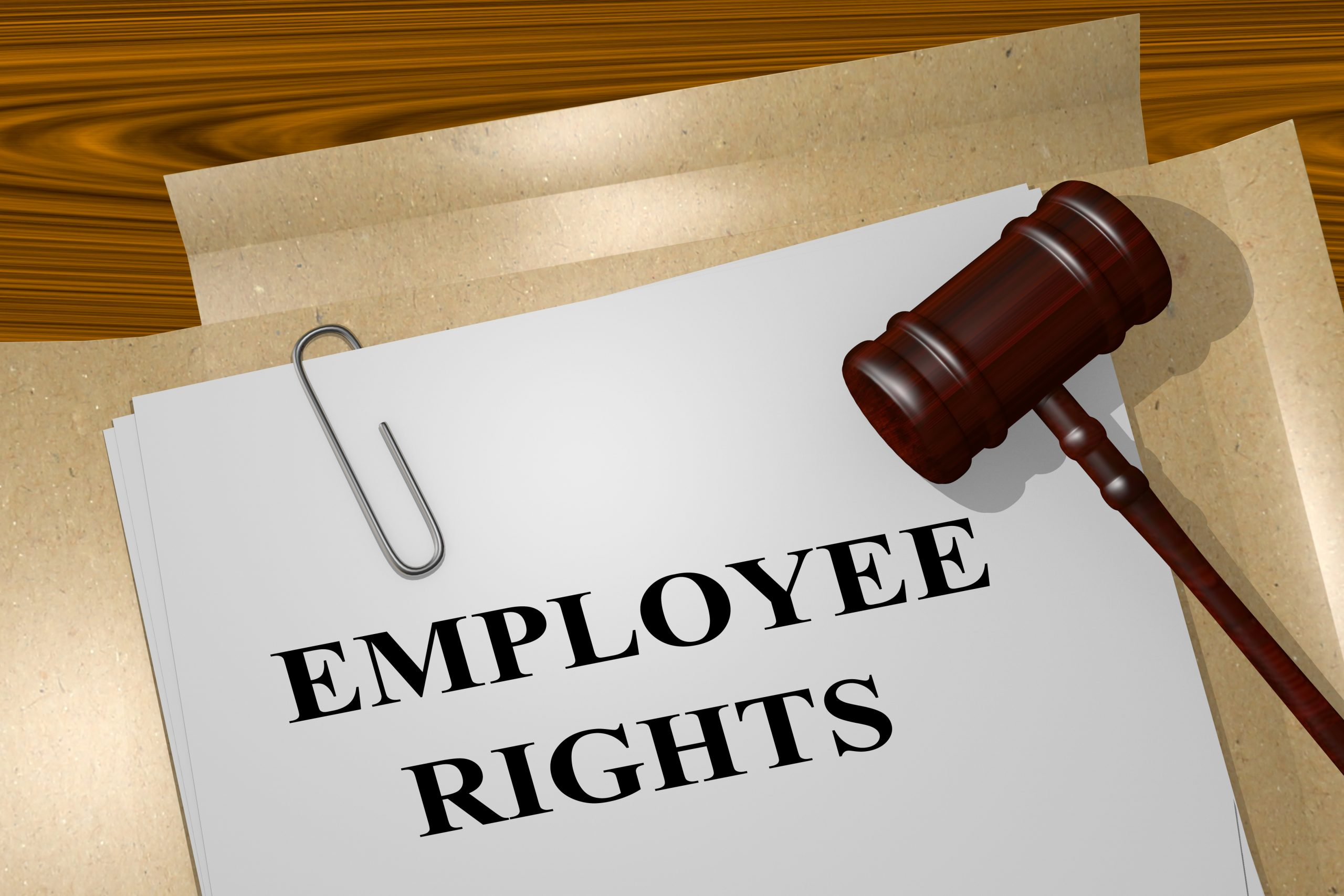 Picture of employee rights concept